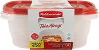 Rubbermaid TakeAlongs 1.9 L Deep Rectangle Food Containers
