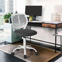 Office Chair Gray Lumbar Support Mesh Computer Desk Task Chair