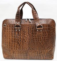 Ashlin Leather Ladies' Zippered Briefcase