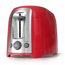 2-Slice Extra Wide Slot Toaster in Red and Stainless Steel