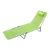 Outsunny Adjustable Reclining Beach Lounge Chair