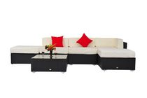 Outsunny 6pcs Deluxe Rattan Sectional Sofa Set