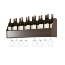 Floating Wine Rack Brown