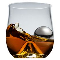 Brilliant Rox & Roll Set Glass with Stainless Steel Ice Ball