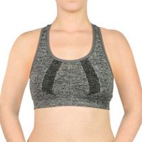Danskin Now Women's D50205200 High Impact Sport Bra Space Grey XL