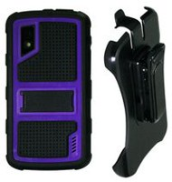 Exian Armored  Case with Belt Clip For LG Nexus  4 - Purple