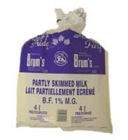 Brum's 1% B.F Partly Skimmed Milk.