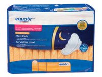 Equate Overnight Absorbency Maxi Pads