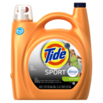Tide High Efficiency Turbo Clean Plus Febreze Sport Active Fresh Scent Liquid Laundry Detergent