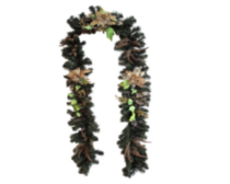 "9' x 10"" Decorated Garland - Gold"