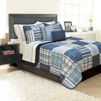 Safdie & Co. Home Deluxe Collection Grey 100% Polyester Quilt Set