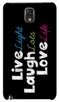 Exian Case for Samsung Galaxy Note 3 - Live Laugh Love