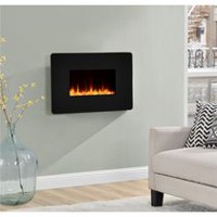 "Dorel Kenna 35"" Wall Mount Fireplace Black"