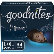 Goodnites Bedtime Bedwetting Underwear, Giga Pack