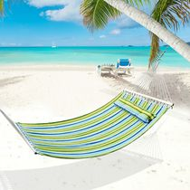 """Outsunny 83"""" Fabric Hammock w/ Pillow"""