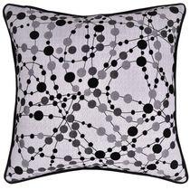 "Caricia Home Fashions Polka Dots Geometric Square Throw Pillow, 17"" x 17"", Silver / Grey / Black"