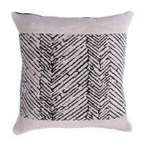 "Caricia Home Fashions Tribal Chevron Geometric Plush Square Throw Pillow, 17"" x 17"", Mustard Yellow / Ivory"
