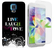 Étui Exian pour Samsung Galaxy S5 Live Laugh Love
