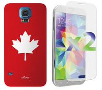 Exian Case for Samsung Galaxy S5 - Maple Leaf Design