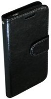 Exian Leather Wallet Case for Samsung Galaxy S5 Black