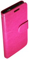 Exian Leather Wallet Case for Samsung Galaxy S5 Pink