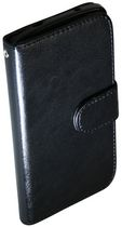 Exian Case for Nexus 5 - Leather Wallet with Card Slots Black