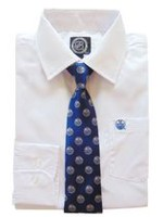 NHL Edmonton Boy's Long Sleeve Dress Shirt and Tie 6