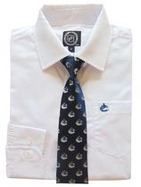 NHL Vancouver Boy's Long Sleeve Dress Shirt and Tie 6X