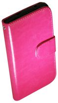 Exian Case for Nexus 5 - Leather Wallet with Card Slots Hot Pink