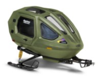 Equinox Snowcoach Boggan Olive Drab with Exterior Storage Rack