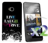 Exian Case for HTC One - Live Laugh Love
