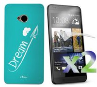 Exian Case for HTC One, Dream White -Teal