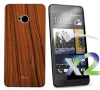 Exian Case for HTC One - Wood Brown