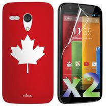 Exian Case for Moto G - Maple Leaf Design