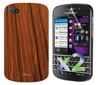 Exian Case for Blackberry Q10, Wood Brown