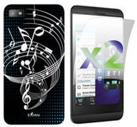 Exian Case for Blackberry Z10, Musical Note - Black