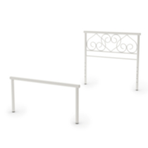 Amisco Love Collection Twin Size Metal Headboard/Footboard White