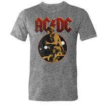 Licensed Tees Men's Short Sleeve AC/DC Crew Neck T-Shirt XL/TG