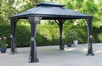 hometrends 10 ft. x 12 ft. Aluminum & Galvanized Steel Gazebo
