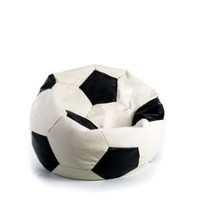 THE 1ST Paris Synthetic Leather Soccer Beanbag Chair