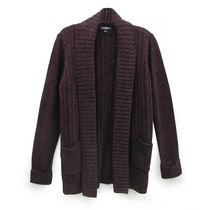George Women's Ribbed Cardigan Burgundy M