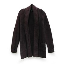 George Plus Women's Open Front Cardigan Burgundy 4x
