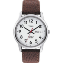 Timex® Easy Reader® Basic Brown Leather Strap Men's Analog Watch