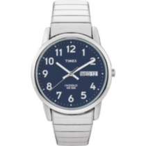 Timex Easy Reader for Men - Silver with Blue dial