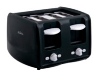 Sunbeam 4 Slice Extra-Wide Slot Retractable Cord Toaster Black