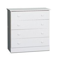 Prepac Edenvale White 4-Drawer Chest