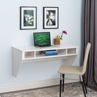 Designer Floating Desk White