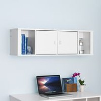 Designer Floating Hutch White