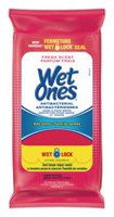 Wet Ones Antibacterial Fresh Scented Hand and Face Wet Wipes, Travel Pack, 20 Wipes