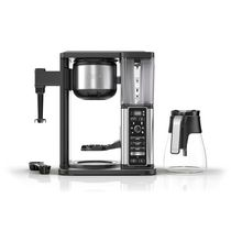 Ninja CM400C, Specialty Coffee Maker with Fold-Away Frother and Glass Carafe, Black/Silver, 1550W